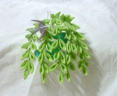 Small maiko willow and swallow tsumami kanzashi by ImlothMelui