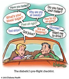 The diabetic's pre-flight checklist and remember to pack extra testing strips!!!