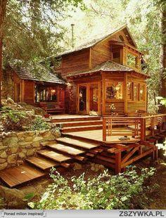 Zobacz zdjęcie Drewniany domek w lesie.. marzenie! w pełnej rozdzielczości