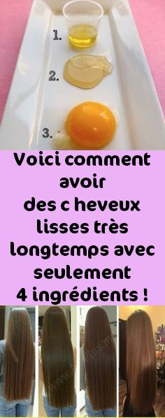 Voici comment avoir des c… – Lotion Diy Beauty, Beauty Women, Dying My Hair, About Hair, Straight Hairstyles, Girl Hairstyles, Body Care, Lotion, Health Fitness