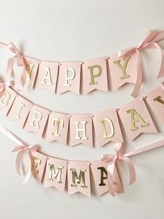 shop: Blush Rose Gold Happy Birthday Banner Personalized Girl Birthday Banner Custom Birthday Sign Birthday Decorations Birthday Photo Prop Excited to share the latest addition to my Decoration Birthday, 1st Birthday Banners, Baby Girl 1st Birthday, Birthday Diy, 1st Birthday Parties, Birthday Banner Ideas, Happy Birthday Decor, Happy Party, 18th Birthday Party Ideas Decoration