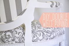 Double Welt Piping Tips and Tricks | http://www.heartsandsharts.com/double-welt-piping-tips-tricks/