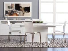 Scandinavian Designs - The Jeanet mixes well with both contemporary and transitional styles. Comes in a cream synthetic or a brown synthetic leather with nickel plated iron legs.