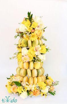 Macaron Flower Tower