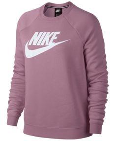 Nike Sportswear Rally Logo Fleece Sweatshirt - Purple XL - Alice Home Nike Outfits, Teen Fashion Outfits, Sporty Outfits, Nike Fashion, Swag Outfits, Nike Sweatshirts, Hoodies, Cute Comfy Outfits, Cute Outfits For School