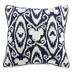 IN LOVE WITH THIS!  Disney Mickey Mouse Icon Indigo Pillow | Disney StoreMickey Mouse Icon Indigo Pillow - Bring Disney Parks into your home with our Mickey Mouse Icon Indigo Pillow. Perfect as a furniture accent, this pillow boasts an elegant ikat indigo pattern with hidden Mickey icons, while the other side features a lively striped pattern.