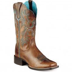 10008017 Ariat Women's Tombstone Western Boots - Sassy Brown www.bootbay.com