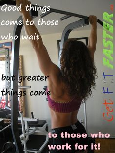 Work towards achieving your goals! Join us free @ www.getfitfaster.ca for workouts, motivation, health and fitness information, and more!