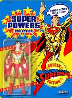 Source: Kenner's Super Powers Collection, never released action figure Type: Toy For Superman's Anniversary, Kenner had apparent. Action Comics 1, Batman Action Figures, Dc Comics, Modern Toys, Old School Toys, Classic Toys, Old Toys, Comic Character, Super Powers
