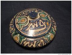 Ancienne Bonbonnière Maroc Fès Poterie Marocaine Pottery Terracotta Töpferei…