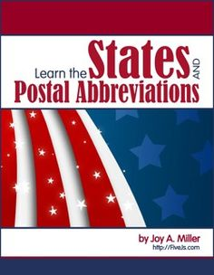 Learn the States and postal abbreviations.....29 page download