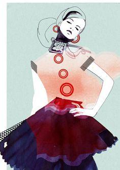 fashion illustration: Hand On My Hip