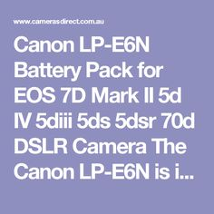 This Canon Battery is not a cheap battery. The Canon battery will however outperform a compatible The Canon will also hold their charge for longer over time. Canon Battery, 70d, Canon Dslr