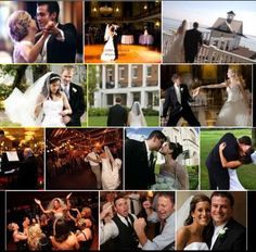 A picture is worth a thousands words - and wedding pictures are worth a million! In this collage of images, twelve of our favorite brides and grooms smile, dance, party, and celebrate with their friends and families as the John Parker Bands set the tone for the evening! From the groom rocking out to the couple dancing by a fountain, no wedding is complete without music, and only John Parker Bands bring the elegant, energetic performance you want at your wedding! www.johnparkerbands.com