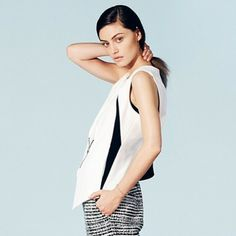 The Originals star Phoebe Tonkin in our Daisy vest (via Who What Wear)