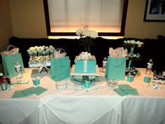Diva  Co a Breakfast at Tiffanys Champagne Bridal Brunch :  wedding maid of honor shower breakfast at tiffanys shower ideas blue tiffany blue champagne brunch teal navy white bridesmaids cake inspiration diy The Cake Table