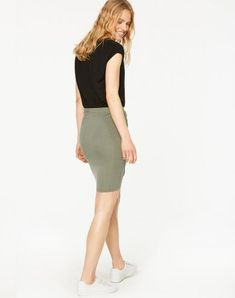 Nina Rock Khaki aus Tencel #veganemode #fairfashion #veganfashion Vegan Fashion, Organic, Skirts, Dress Skirt, Womens Fashion, Summer, Nice Asses, Skirt