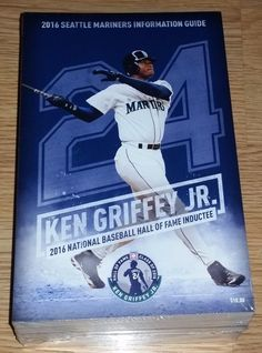 2016 SEATTLE MARINERS MEDIA INFO GUIDE! 2016 HALL OF FAME KEN GRIFFEY, JR!! HOT! #MEDIAGUIDE