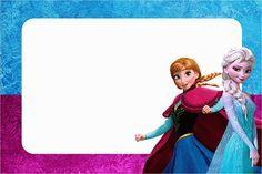 Frozen Azul y Purpura: Invitaciones para Impimir Gratis.