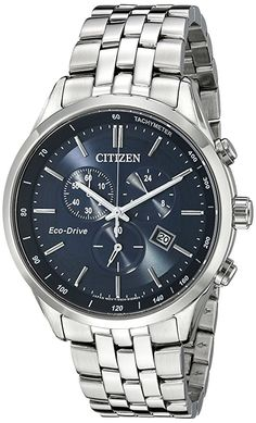 Amazon.com  Citizen Men s Eco-Drive Chronograph Stainless Steel Watch with  Date 98f003cfb4