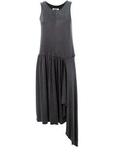 Mm6 Maison Margiela Asymmetric Pleated Dress
