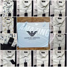 Armani shirts available in store. WhatsApp us at 8115390000