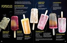 It's getting hot outside so let's enjoy some naturally sweet popsicles! I shared these recipes in my cookbook, The Grain-Free Snacker. They're easy to make and very yummy! You can easily play around w sugarfreepopsicles Healthy Popsicle Recipes, Healthy Popsicles, Frozen Yogurt Popsicles, Almond Milk Popsicles, Blueberry Popsicles, Homemade Fruit Popsicles, Sugar Free Popsicles, Frozen Fruit Bars, Coffee Popsicles