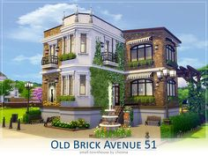Lhonna Sims Creations — Old Brick Avenue nr 51 is. Sims 4 House Plans, Sims 4 House Building, New House Plans, Sims3 House, Sims Freeplay Houses, Sims 4 House Design, The Sims 4 Lots, Casas The Sims 4, Sims 4 Build