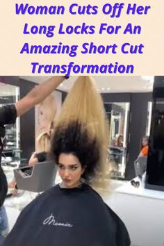 Woman Cuts Off Her Long Locks For An Amazing Short Cut Transformation B 13, Perfume, Long Locks, Just Amazing, Amazing Things, Awesome, Hair Transformation, Short Cuts, Fun Facts