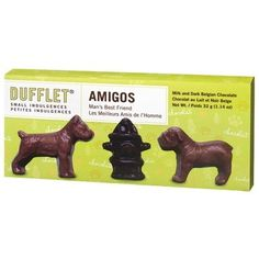How cute are these?! Dufflet Small Indulgences Amigos Man\s Best Friend
