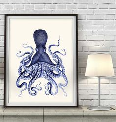 Hey, I found this really awesome Etsy listing at https://www.etsy.com/listing/155022036/octopus-print-blue-3-octopus-picture