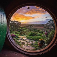 Good morning and have a wonderful day The Hobbiton - New Zealand. Picture by by wonderful_places Wonderful Day, Wonderful Places, Beautiful Places, O Hobbit, Hobbit Hole, Cottage In The Woods, Sunset Photography, Landscape Photography, Inspiring Photography