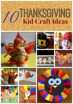 10 Thanksgiving Kid Craft Ideas!!! So many fun things to do while the kids are off on their holiday break. From little pilgrim hat crayon holders to a hand print turkey family.