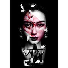 Japanese Geisha Tattoo, Japanese Tattoo Designs, Japanese Sleeve Tattoos, Japan Tattoo Design, Geisha Tattoo Design, Geisha Tattoos, Female Samurai Tattoo, Girl Face Tattoo, Face Tattoos