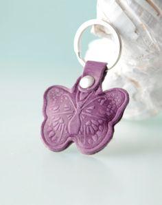 Butterfly. Keychain key chain key ring key fob by secondstudio