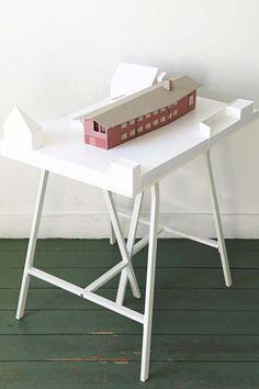 Architectenbureau Bart Dehaene Architecture Blueprints, Landscape Architecture, Architecture Models, 3d Modelle, Student House, Arch Model, Paper Models, Model Building, Game Design