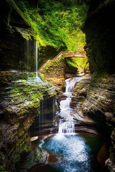 The Gorge at Watkins Glen State Park in New York by Dave Veffer.