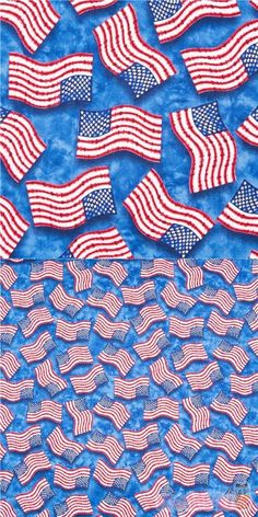blue quilting cotton fabric with white and red USA flag in tie dye style, specially imported from United States, 100% cotton, well made fabric, typical great Timeless Treasures quality #Cotton #FamousPlaces #Landmarks #USAFabrics