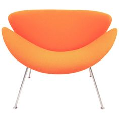 Vintage F437 Orange Slice Chair by Pierre Paulin for Artifort, 1960 | 1stdibs.com