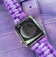 A personal favourite from my Etsy shop https://www.etsy.com/listing/255065128/blekkord-paracord-apple-watch-strap