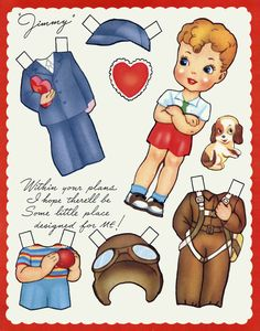 "✄ #Paper dolls...""Jimmy"""
