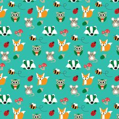 This 'Nutty for nature' print is a firm favourite already. You can grab it in some super funky and Nature Prints, Dungarees, Slow Fashion, New Baby Products, Organic Cotton, Unisex, Foxes, Woodland, Trousers