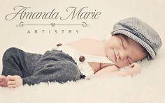 Newborn Boy Photo PropCap and Newborn Longies