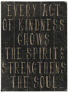 Every Act of Kindness Wall Decor
