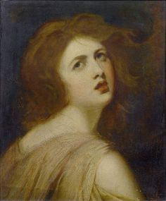 A Study of Emma, Lady Hamilton, as Miranda by George Romney c.1802 (The Tempest)