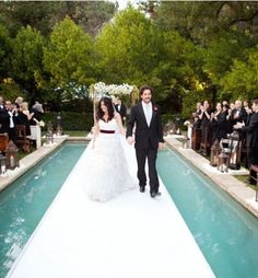 wedding with swimming pool down aisle - Bing images