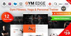 Gym Edge - Fitness WordPress Theme Coach Website, Cosmetic Shop, 1 Live, Men Store, Class Schedule, Creative Portfolio, Best Templates, Creating A Business, Best Wordpress Themes