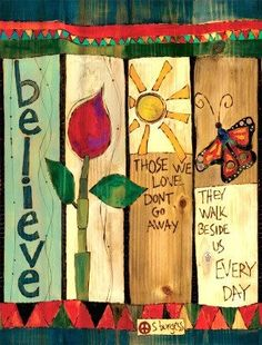 Garden Art Poles are copies of original hand painted art on Vinyl. 8 styles with simple messages and vivid color, Art Poles are fun, easy to install, USA made