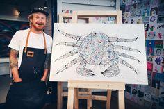 Crab Painting, Crab Art, Gothenburg, Crabs, Charity, Fish, Fantasy, Blog, Pisces