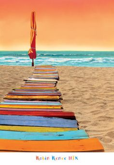 Orange Beachwalk Robin Renee Hix